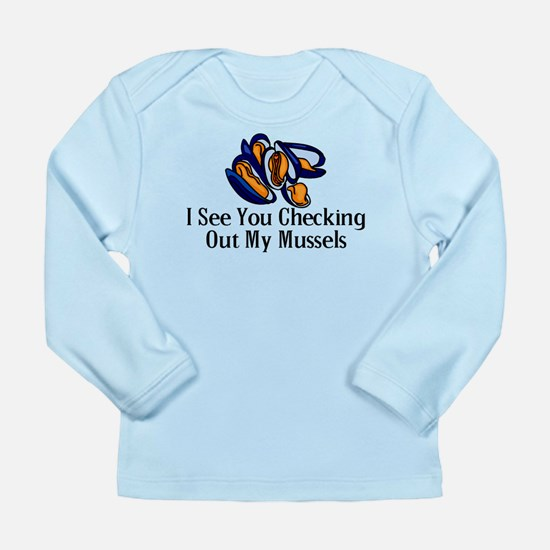 Checking Out Mussels Long Sleeve Infant T-Shirt