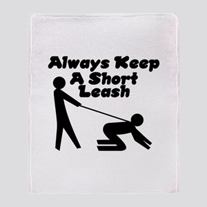 Short Leash Throw Blanket