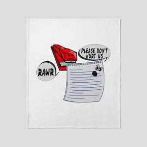 Evil Stapler Throw Blanket