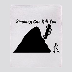 Smoking Can Kill You Throw Blanket