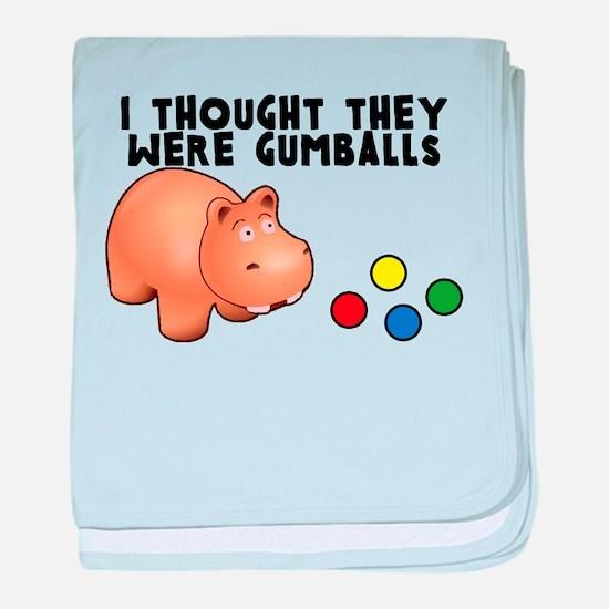 Hippo Gumballs baby blanket