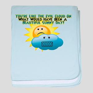 Evil Cloud baby blanket
