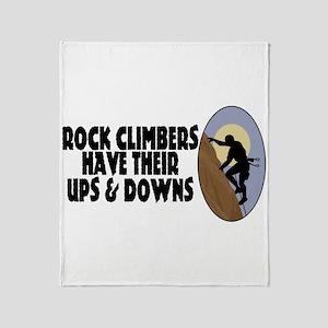 Rock Climbers Throw Blanket