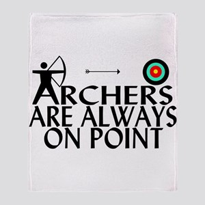 Archers On Point Throw Blanket