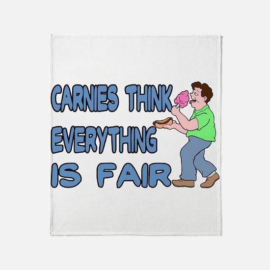 Carnies Think Throw Blanket