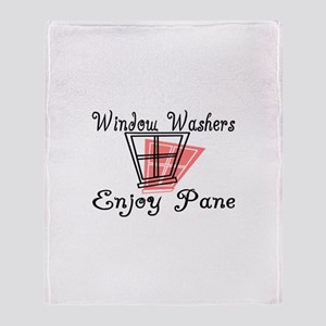 Window Washer Pane Throw Blanket