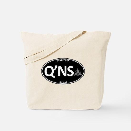 Qo'noS Black Oval Tote Bag