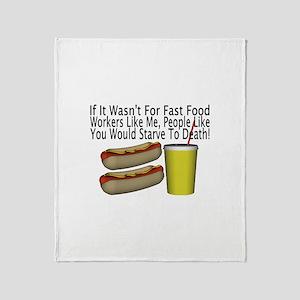 Fast Food Worker Throw Blanket
