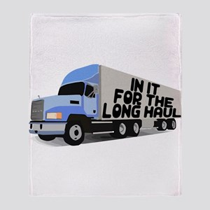 Long Haul Trucker Throw Blanket