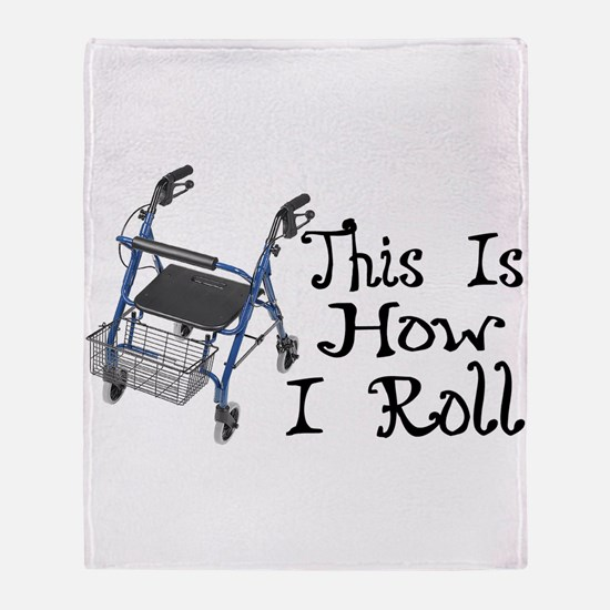 How I Roll Walker Throw Blanket