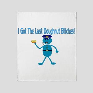 Last Doughnut Throw Blanket