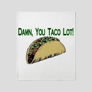 Taco Lot Throw Blanket
