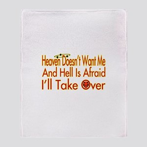 Heaven And Hell Throw Blanket