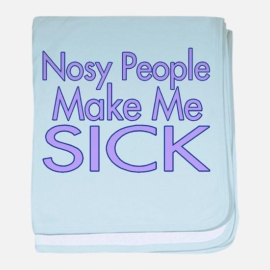 Nosy People baby blanket