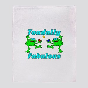 Toadally Fabulous Throw Blanket