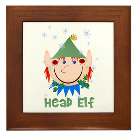 Head Elf Framed Tile