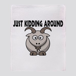 Just Kidding Around Throw Blanket