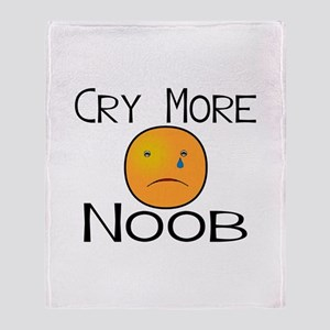 Cry Noob Throw Blanket