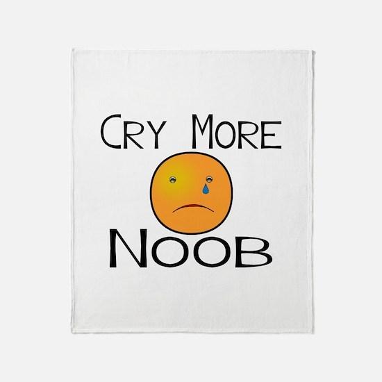 Cry Noob Throw Blanket