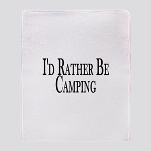 Rather Be Camping Throw Blanket