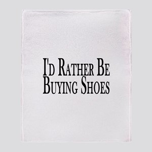 Rather Buy Shoes Throw Blanket