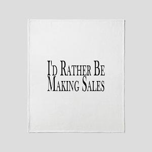 Rather Make Sales Throw Blanket