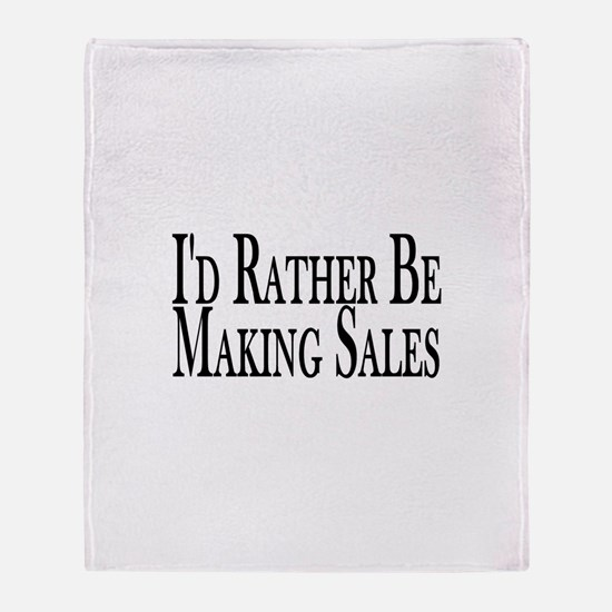 Rather Make Sales Throw Blanket