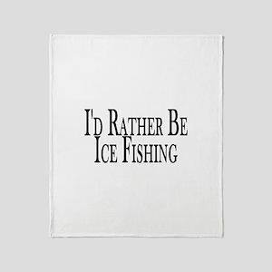 Rather Ice Fish Throw Blanket