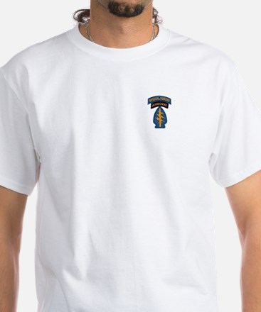 Special Forces Patch with SF Tab White T-Shirt