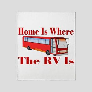 RV Home Throw Blanket