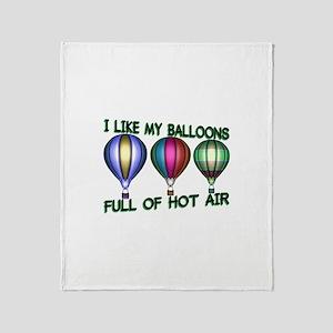 Hot Air Balloon Throw Blanket