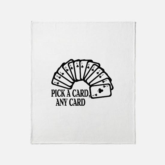 Pick A Card Throw Blanket