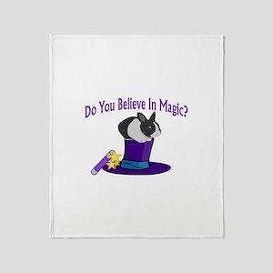 Believe In Magic Throw Blanket