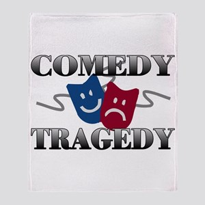 Comedy Tragedy Throw Blanket
