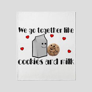 Cookies And Milk Throw Blanket
