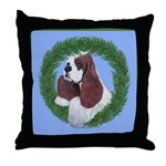 Christmas Cocker Spaniel Throw Pillow