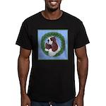 Christmas Cocker Spaniel Men's Fitted T-Shirt (dar
