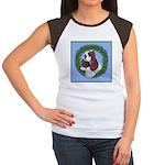 Christmas Cocker Spaniel Women's Cap Sleeve T-Shir