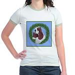 Christmas Cocker Spaniel Jr. Ringer T-Shirt