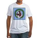 Christmas Cocker Spaniel Fitted T-Shirt