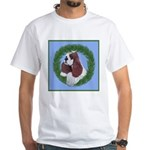Christmas Cocker Spaniel White T-Shirt