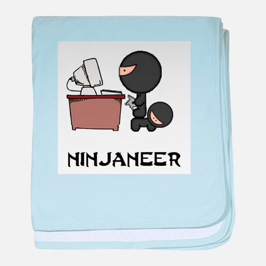 Funny Ninja baby blanket