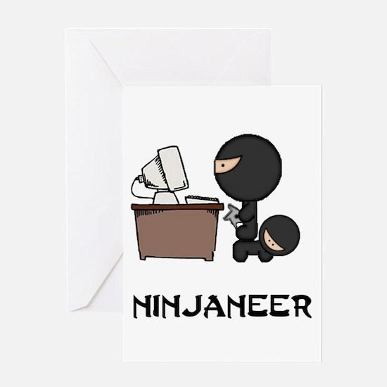 Funny Ninja Greeting Card