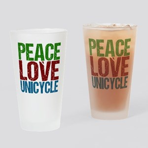 Peace Love Unicycle Drinking Glass