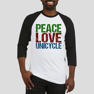 Peace Love Unicycle Baseball Jersey