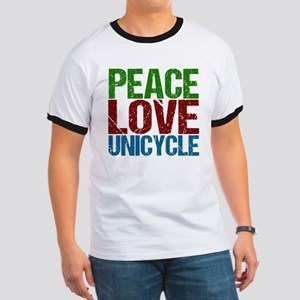 Peace Love Unicycle Ringer T