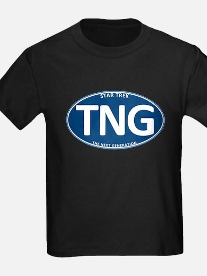 Star Trek: TNG Blue 2 Oval T