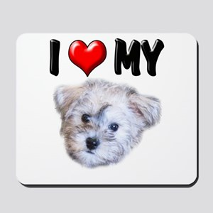 I Love My Schnoodle Mousepad