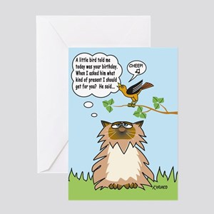 Cheep Birthday Card Greeting Card