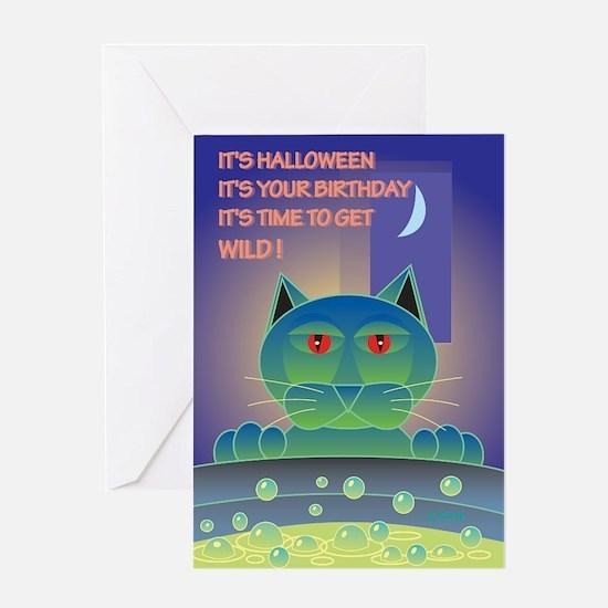 Halloween Birthday Brew Greeting Card